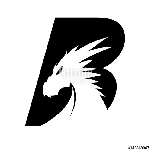500x500 Letter B + Dragon Head Stock Image And Royalty Free Vector Files