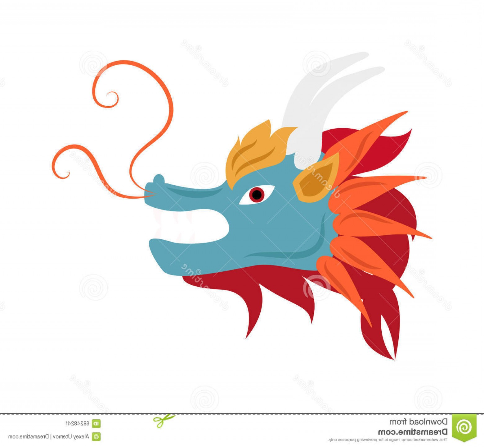 1560x1438 Simple Chinese Dragon Head Vector Arenawp