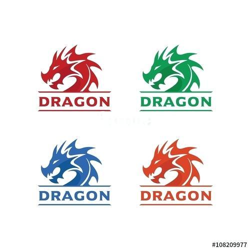 500x500 Chinese Dragon Head Template Free Logo Brand Identity Vector
