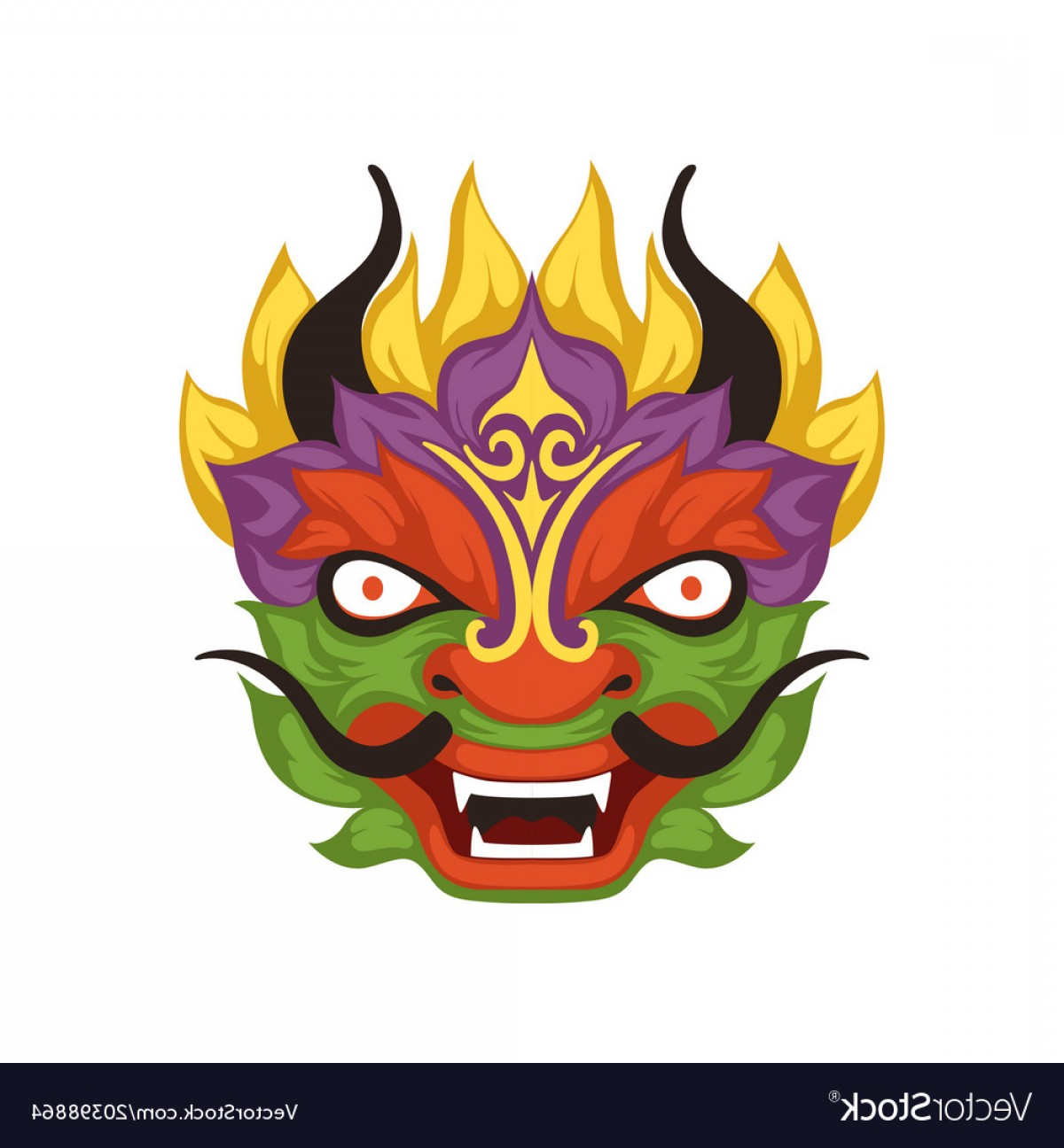 1200x1296 Colorful Dragon Head Symbol Of Chinese Vector Lazttweet