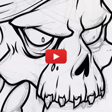 220x220 Adobe Illustrator Tutorial How To Draw A Vector Pirate Skull
