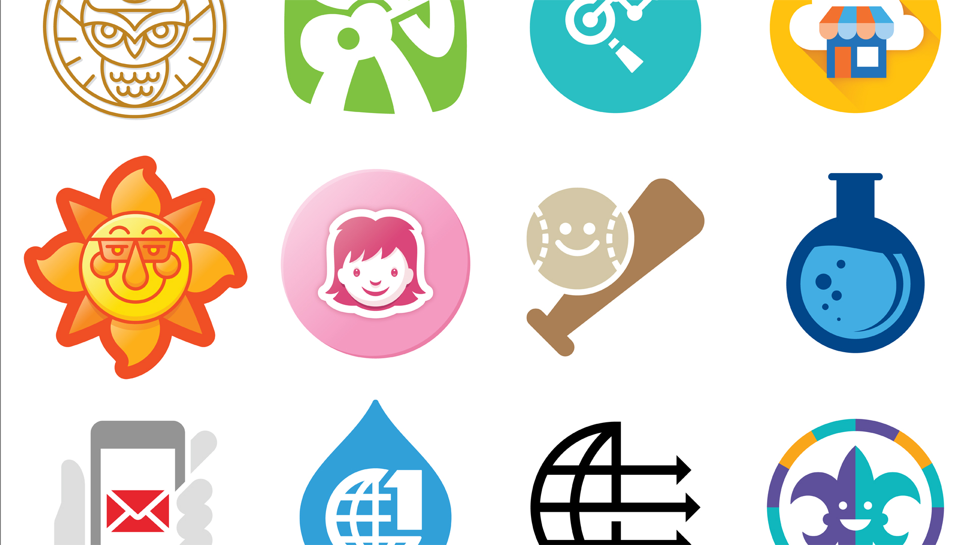 1920x1080 Drawing Vector Graphics Iconography