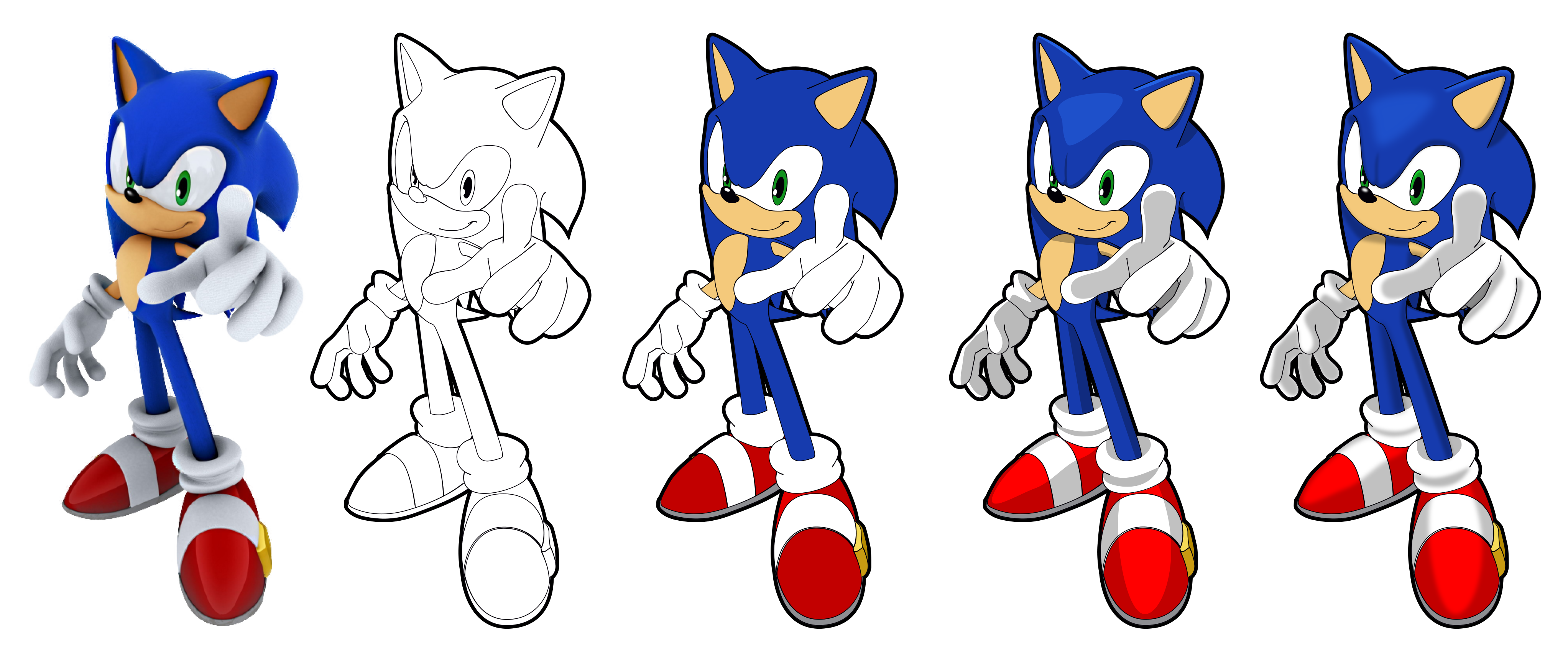 4090x1720 Sonic Vector Drawing By Juliannb4