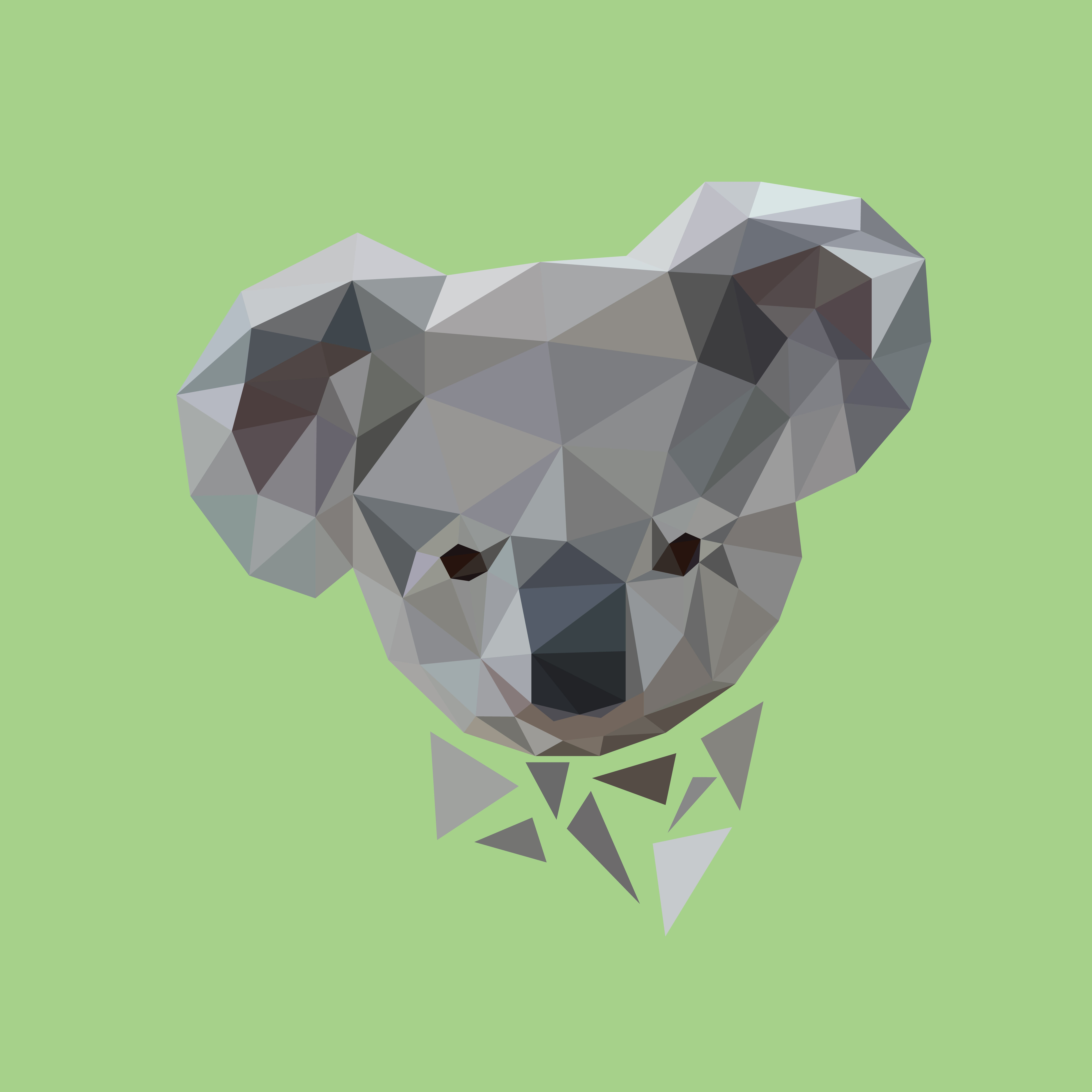 8000x8000 Low Poly Koala Face! Now Available On Vector Graphics Online