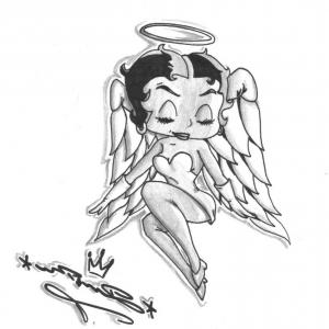 300x300 Drawing Of Betty Boop Betty Boop Free Images At Clker Vector Clip