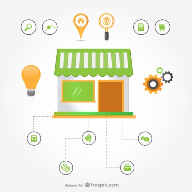 626x626 E Commerce Infographic Vector Free Download