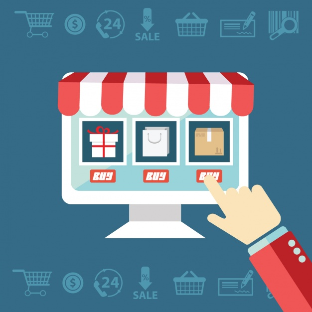 626x626 E Commerce Shopping Vector Free Download