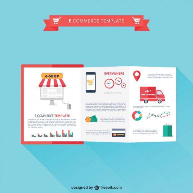 626x626 E Commerce Template Vector Free Download