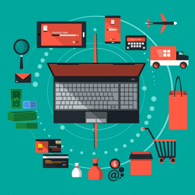 626x626 E Commerce Web Shop Objects Vector Free Download