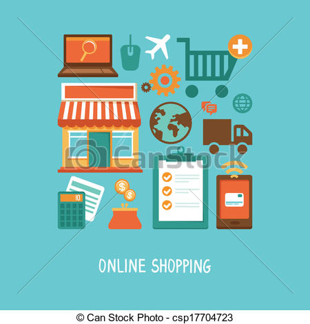 450x470 Vector E Commerce Icons And Signs In Flat Style