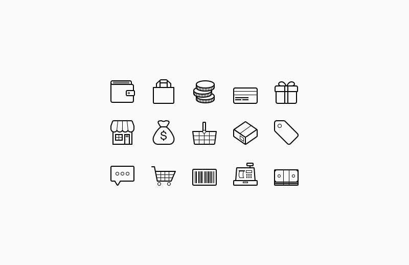 800x518 Vector Ecommerce Icons