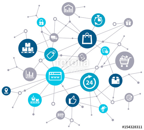 500x450 E Commerce Online Shopping Challenges Vector Stock Image And