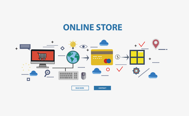 650x400 E Commerce Vector Material, Vector E Commerce, Electronic Screen