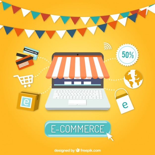 626x626 E Commerce Background Vector Free Download