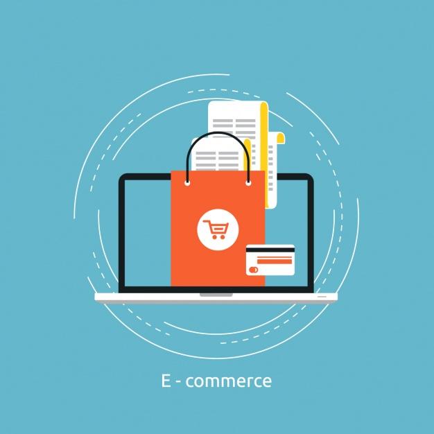 626x626 E Commerce Background Design Vector Free Download