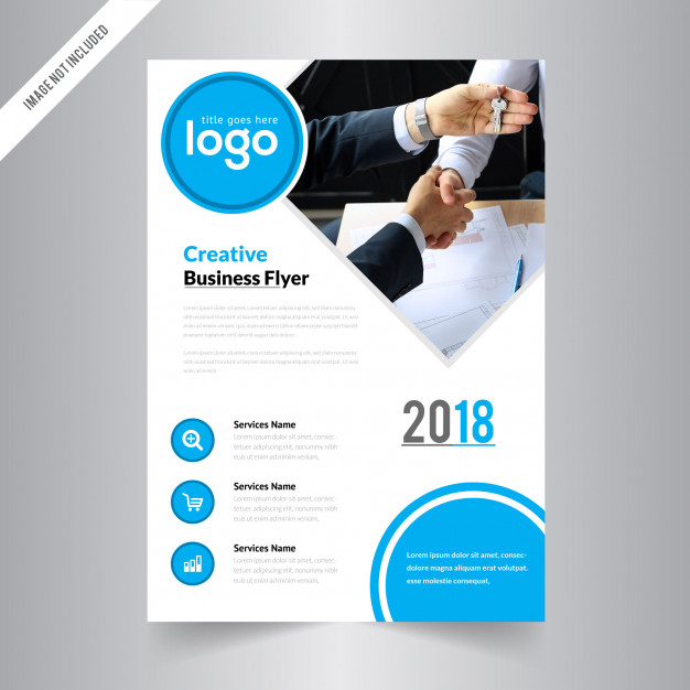 626x626 Vector Brochure Flyer Design Layout Template, Size A4, Front