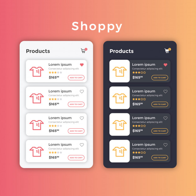 626x626 Ecommerce Product List Layout Vector Premium Download