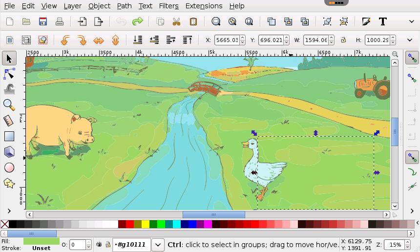 860x516 Inkscape Photo, Video Editing App, Vector Graphics Editor Rollapp