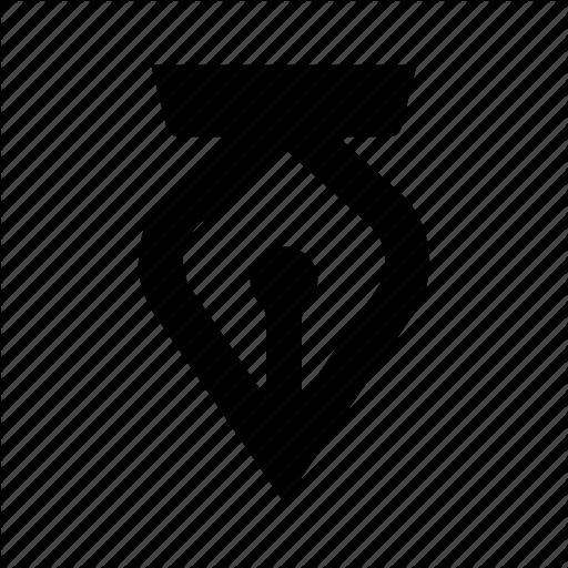 512x512 Creative, Editor, Fountian, Pen, Tip, Vector Icon