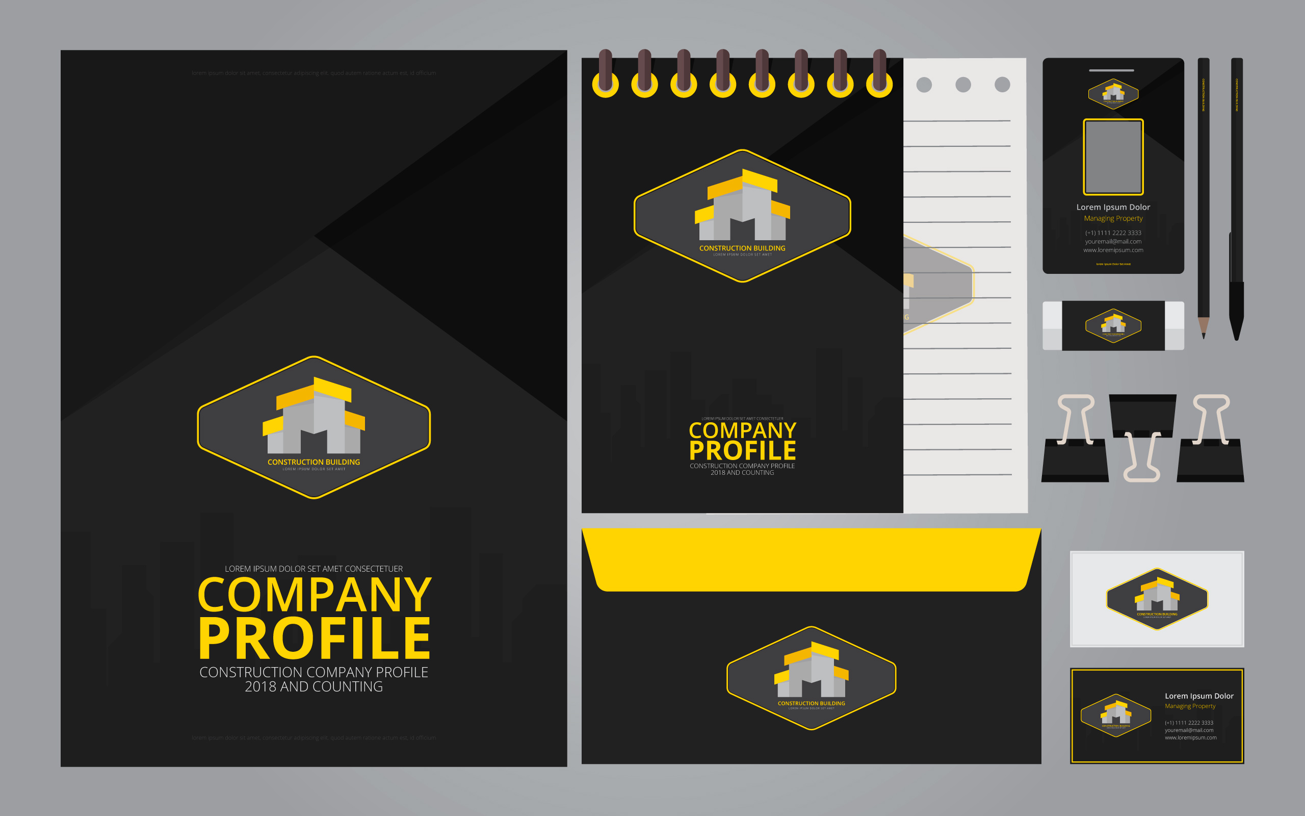 2560x1600 Company Profile Template Free Vector Art