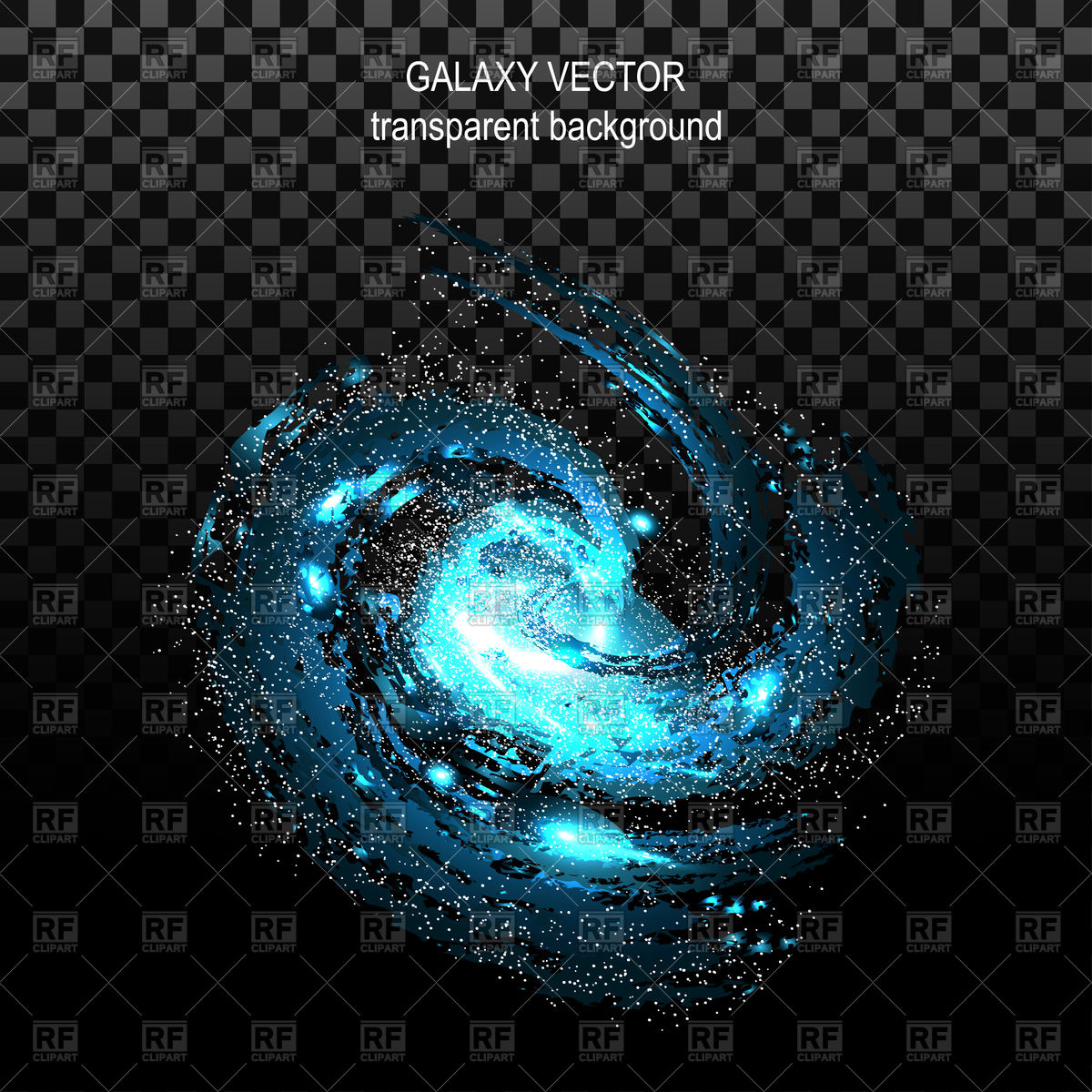 1200x1200 Effect Tunnel Spiral Galaxy On Transparent Black Background Vector