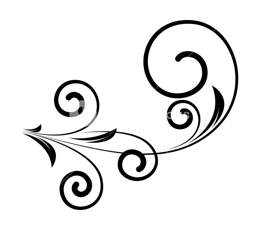 1000x890 Decorative Swirl Elements Vector Art Royalty Free Stock Image