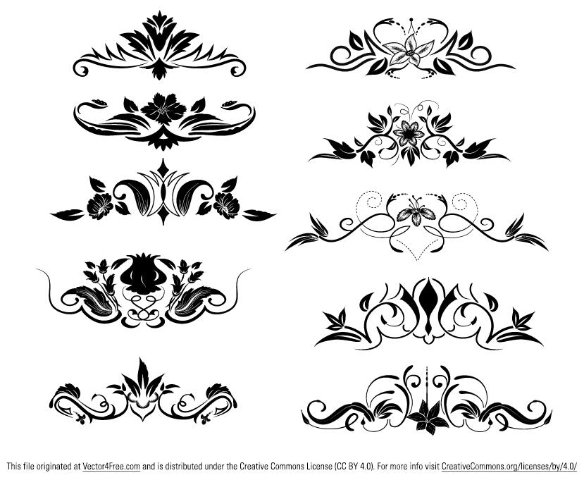 829x681 Free Ornament Vector Elements