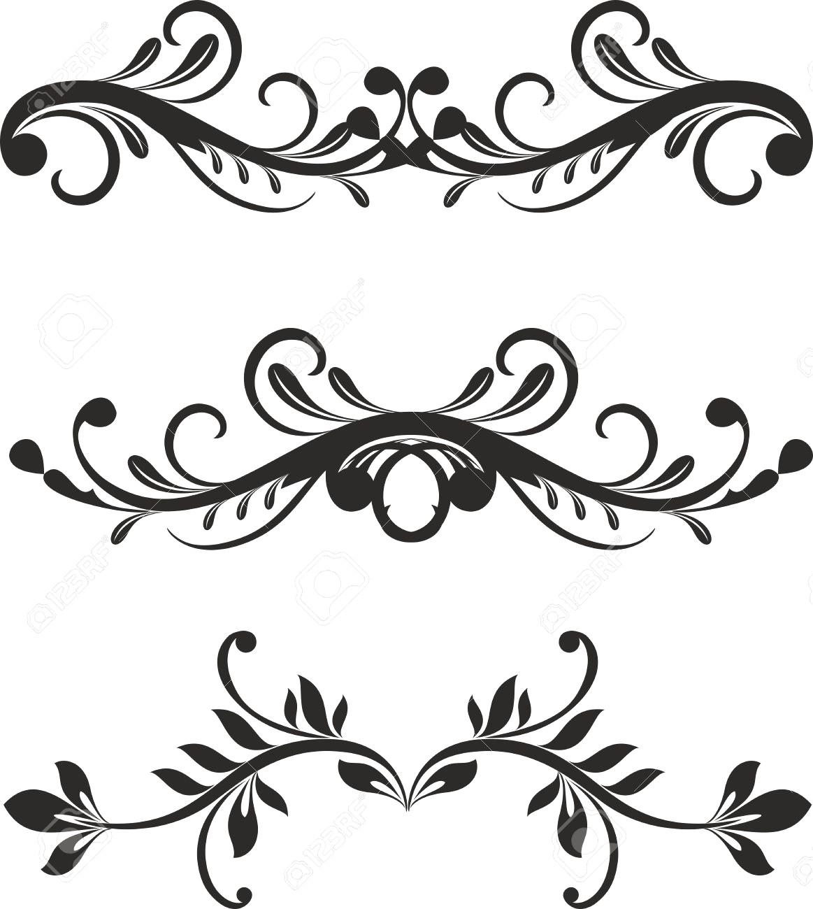 1163x1300 11207875 Floral Design Elements Vector 18