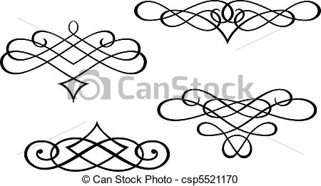 450x261 Monograms And Swirl Elements. Swirl Elements And Monograms For
