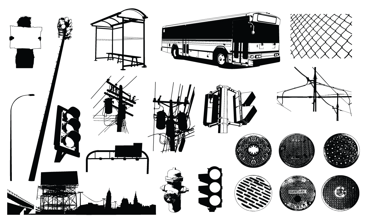 1270x778 Urban Elements Vector Pack For Adobe Illustrator