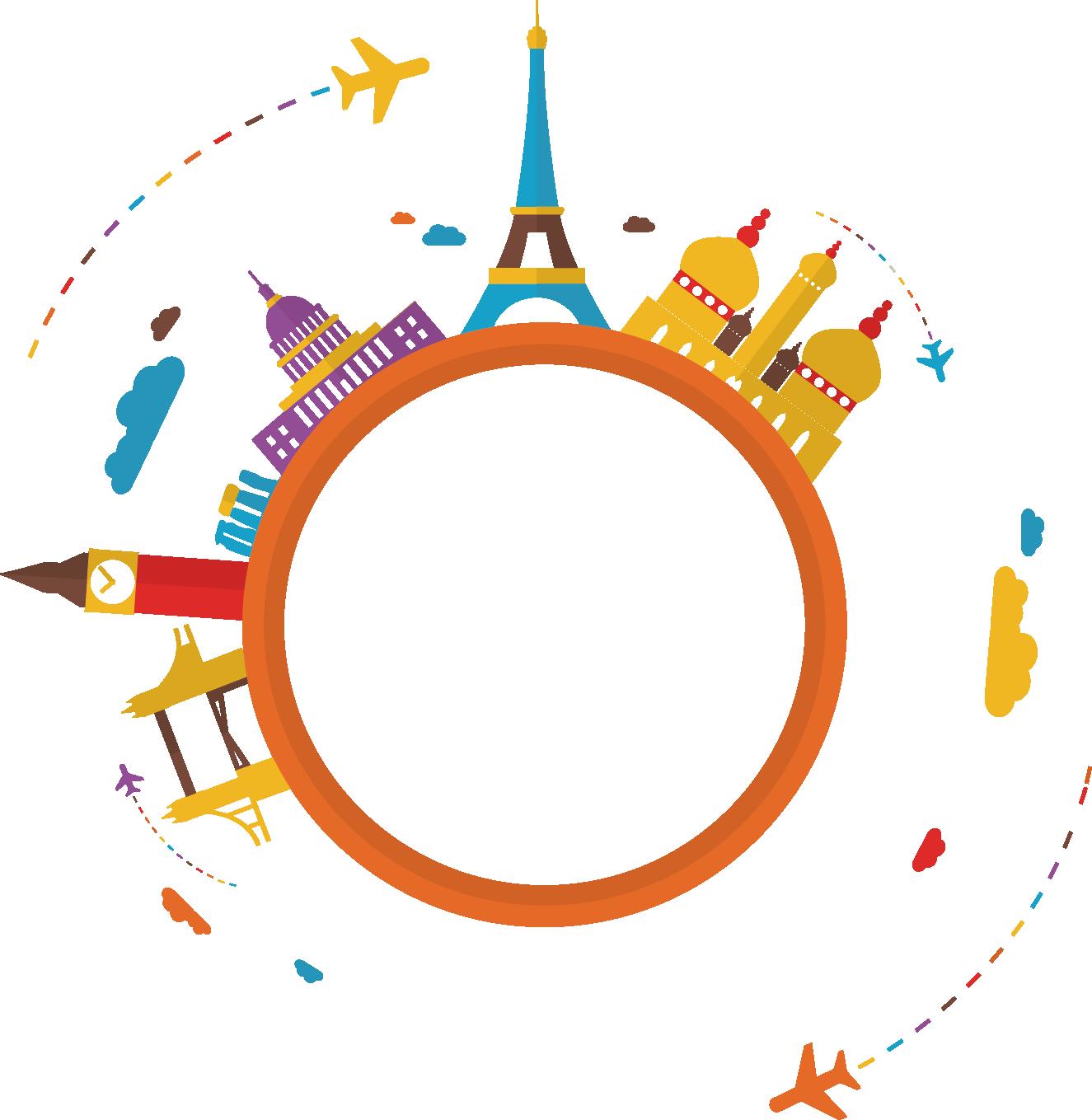 1325x1359 World Travel Clip Art