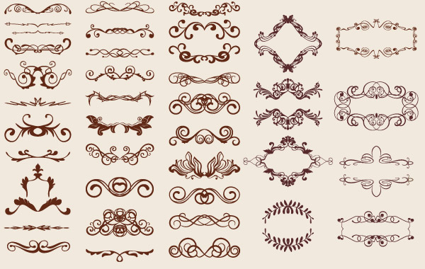 600x380 Free Vintage Graphics Flourish Vector Ornaments