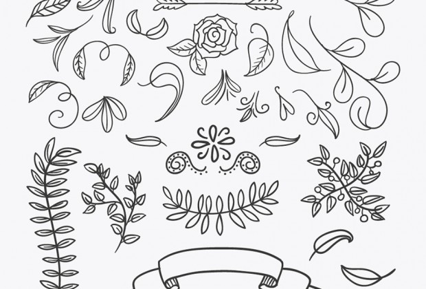 620x420 Best Ever Handsketched Free Vector Elements Creative Nerds