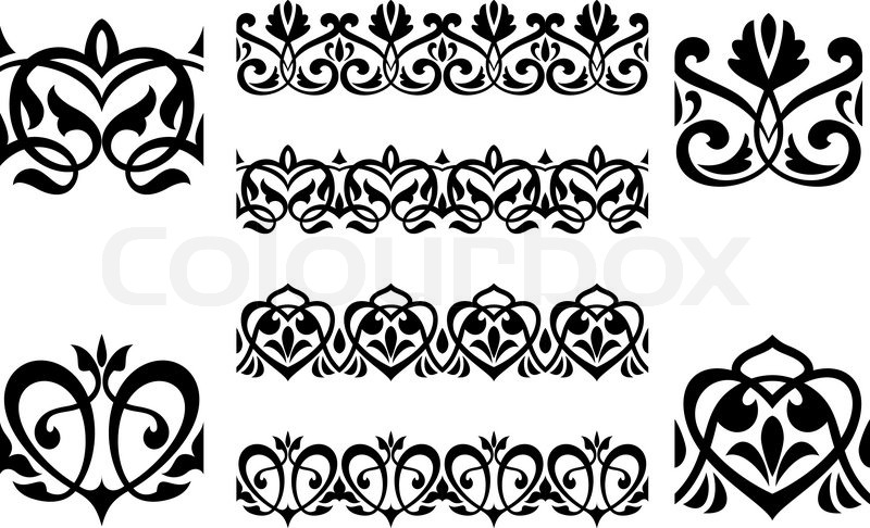 800x486 Ornamental Elements And Embellishments Stock Vector Colourbox