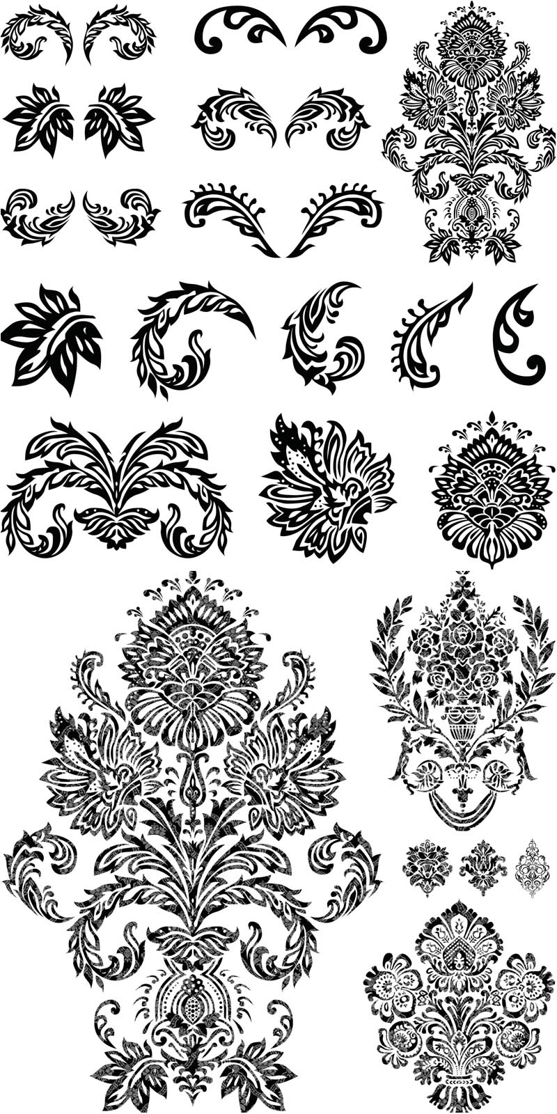 800x1600 Ornate Flourish Embellishments Vector Vector Graphics Blog