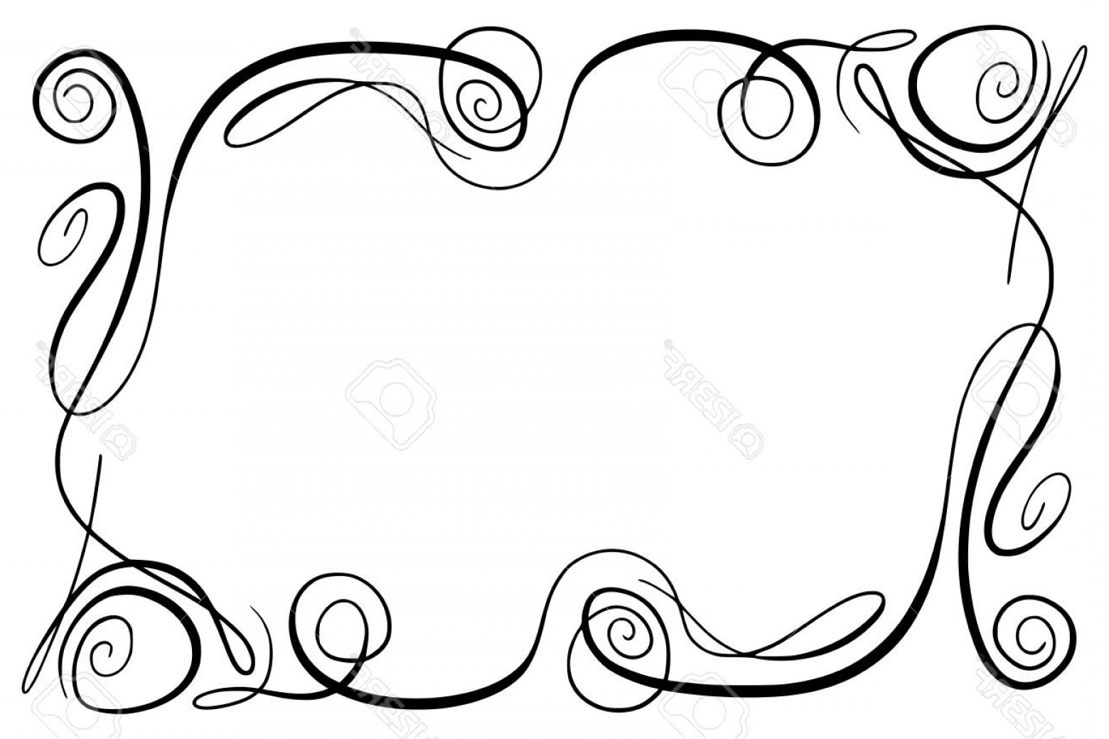 1560x1039 Photostock Vector Flourish Vector Frame Rectangle With Squiggles