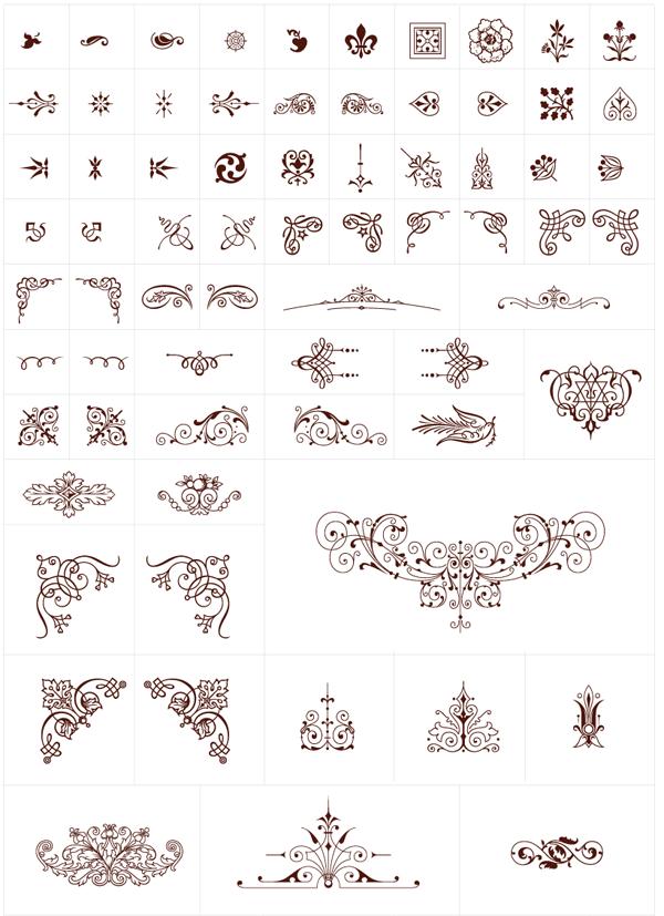 600x827 Free Vintage Graphics Flourish Vector Ornaments