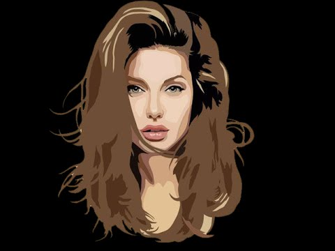 480x360 Drawing Vector Face Angelina Jolie With Microsoft Excel