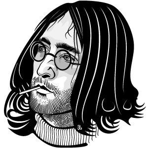 300x300 Hippie Face Vector Image