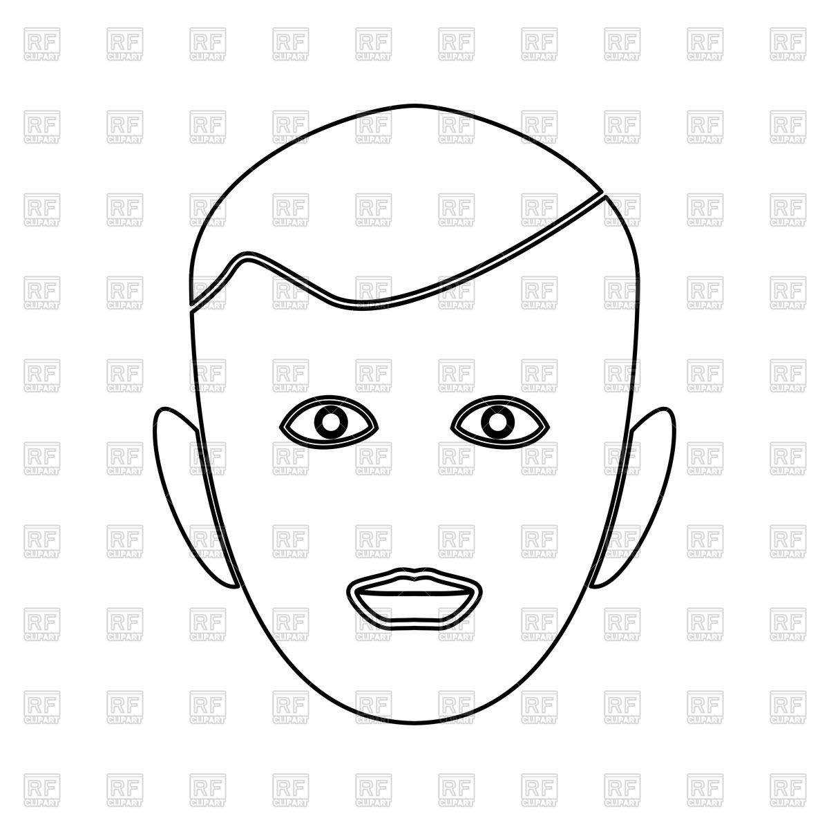 1200x1200 Robot Face Outline, Head Line Art Vector Image Vector Artwork Of