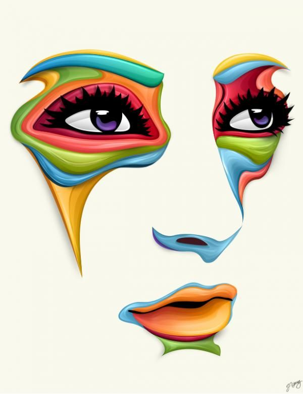 600x780 Vector Faces By Jeremy Young Design Amp Illustration