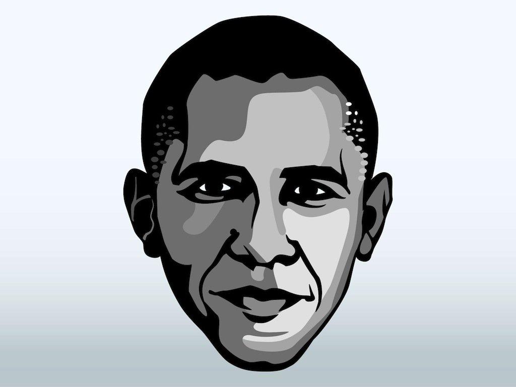 1024x768 Barack Obama Face Vector Art Amp Graphics