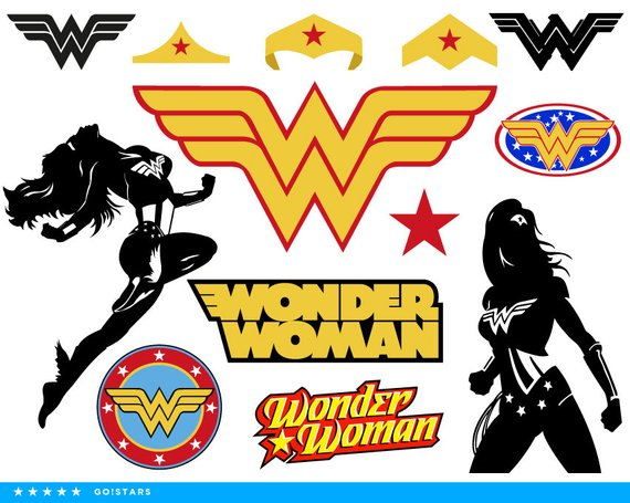 570x455 Wonder Woman Clipart Silhouette Wonder Woman Svg Woman Etsy