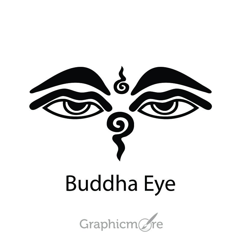 800x800 Buddha Eye Symbol Design Free Vector File Download
