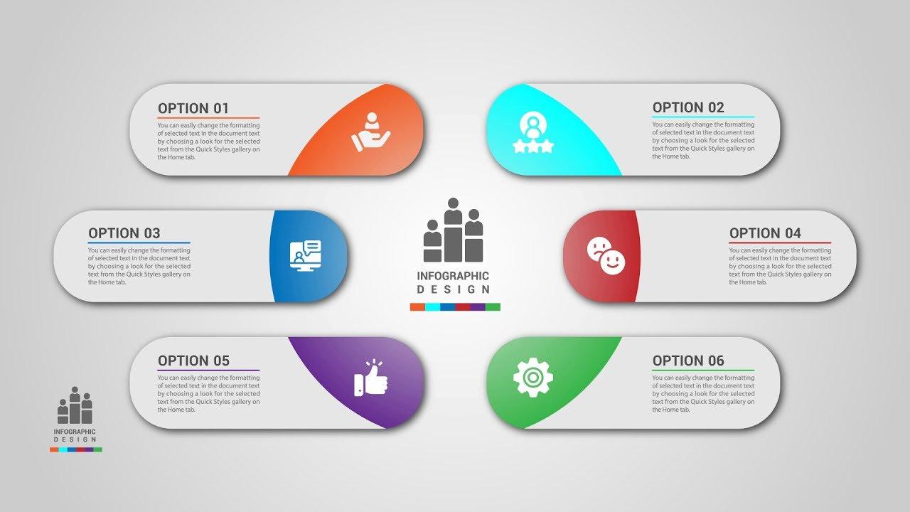 1280x720 Business Timeline Infographics Design Vector Illustrator Tutorial