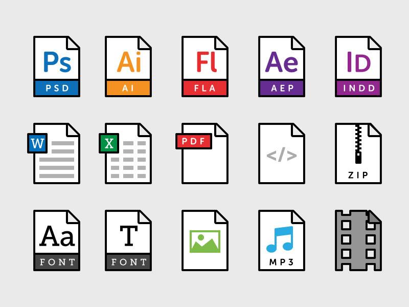 800x600 15 File Type Icons Svg Freebie