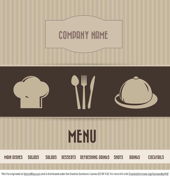 580x607 Free Restaurant Menu Vector