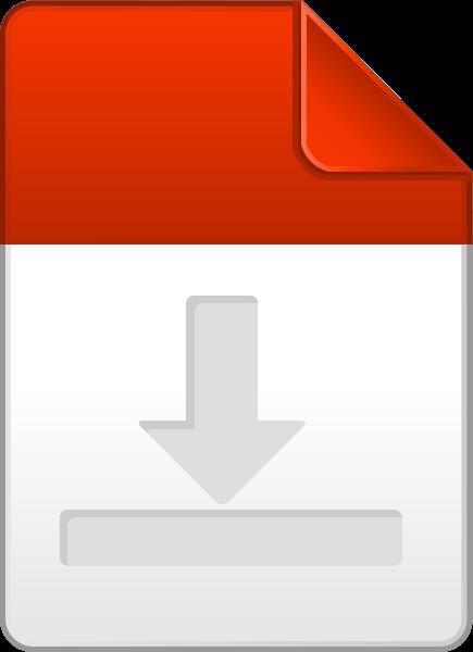 435x600 Orange Download File Icon Vector Data For Free Svg(Vector