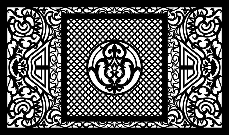 800x472 Vector Laser Cut Panel Pattern Template (.eps) Vector File Free