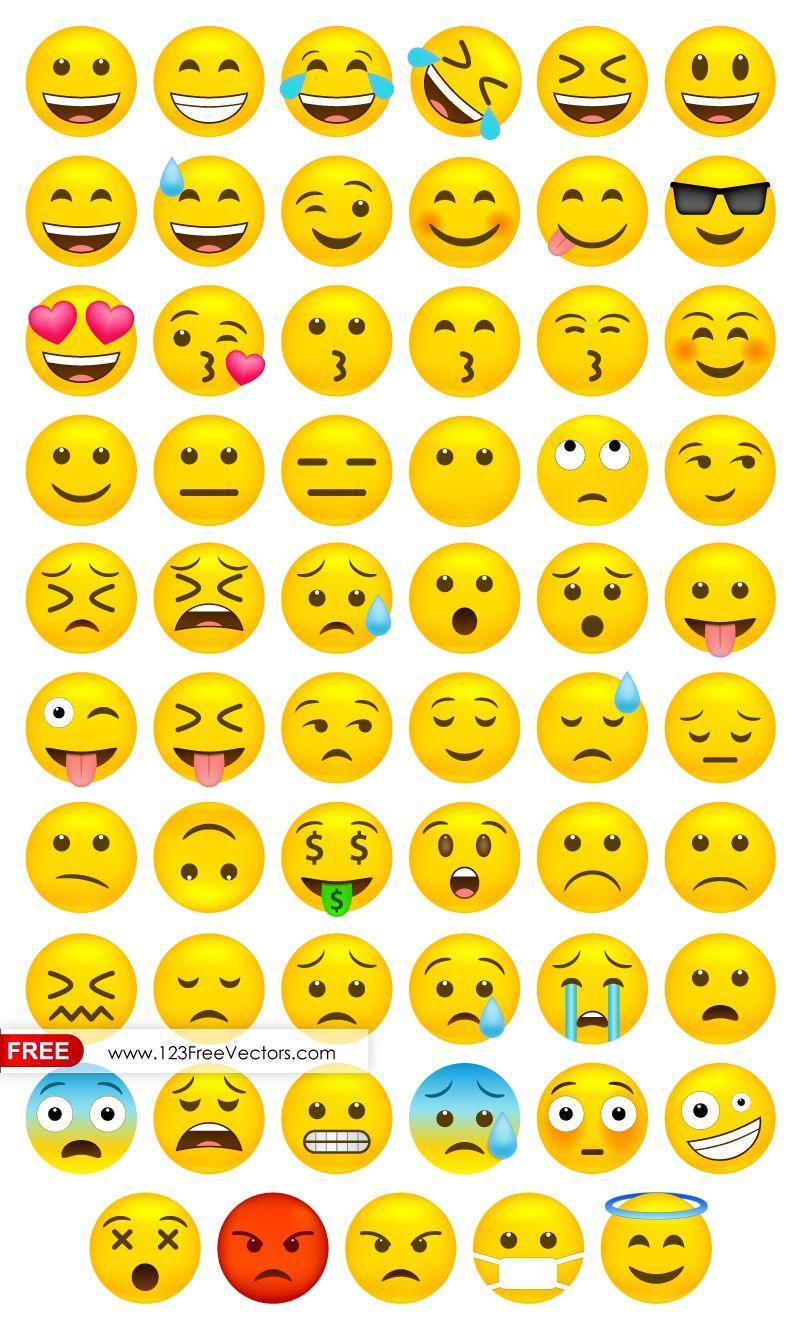 801x1329 Whatsapp Emoji Vector Free Download Free Vectors
